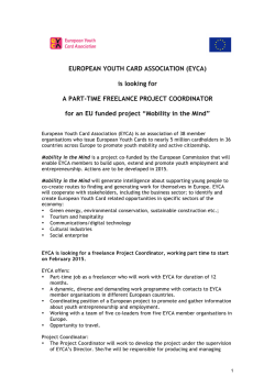 Call for Project Coordinator Mobility in the Mind