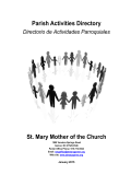 Parish Activities Directory - St. Mary, Mother of the Church