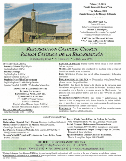 Weekly Bulletin - Catholic Church of the Resurrection