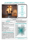 ST. MATTHEW CATHOLIC CHURCH - Saint Matthew Catholic Church