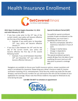 Health Insurance Enrollment