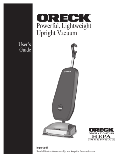 Powerful, Lightweight Upright Vacuum