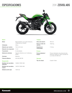especificaciones z250sl abs 2014 - Fuse Interactive, Brochure Engine