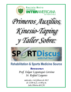 (FLYER): Primeros Auxilios, Kinesio-Taping y EBSCOhost