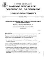 Diario de Sesiones de Pleno y Diputación Permanente
