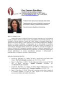 Dra. Carmen Díaz Mora - Universidad de Castilla