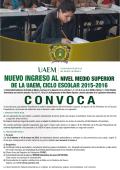 DE LA UAEM, CICLO ESCOLAR 2015-2016