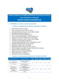 Listado de productos con faltante justificado por la Secretaria de