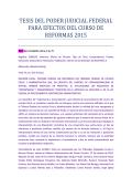 tesis del poder judicial federal para efectos del curso de reformas