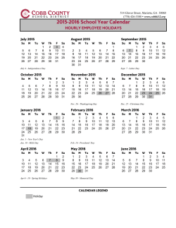 2015-2016 - Annual-Hourly-PTSA Calendar