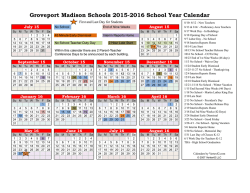 2015-16 School Calendar - Groveport Madison School District