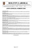 boletin laboral - Junta Local de Conciliación y Arbitraje del Valle