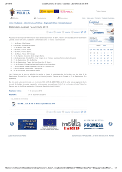 Calendario laboral de Melilla 2015