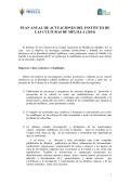 Memoria de gestión 2014 - Instituto de las culturas
