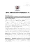 Circular informativa - Colegio Franco Americano