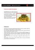LA PERA LIMONERA - Martes 27 de enero POLLO AL CURRY DE
