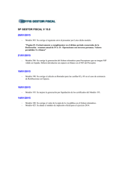 SP GESTOR FISCAL V 15.0 28/01/2015 21/01/2015 19/01/2015 16