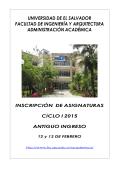 universidad de el salvador facultad de ingeniería y arquitectura