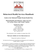 Medicaid Member Handbook - Four Corners Community Behavioral