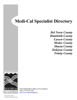 Upper Region Specialty Care Directory