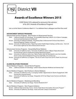 Awards of Excellence Winners 2015