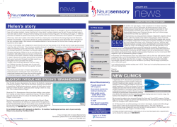 January 2015 - Neurosensory