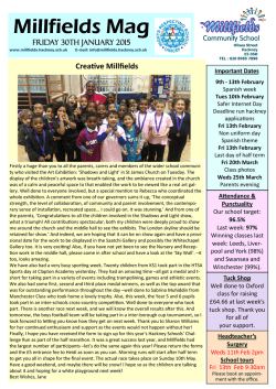 Latest Mag - Millfields Community School