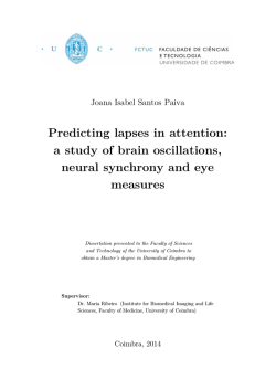 Predicting lapses in attention: a study of brain