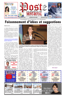 Le Journal de Mont-Royal / TMR Poste