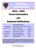 2015 Parent Information and Required Notifications