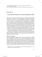 Mayra Rivera A Labyrinth of Incarnations: The Social Materiality of