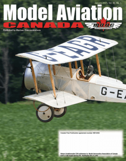 Advertise in - Model Aeronautics Association of Canada