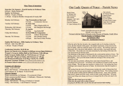 This Weeks News - Our Lady Queen of Peace