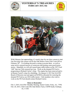 Newsletter - South Alabama Antique Tractor and Engine Club