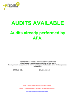 AFA Audits Database