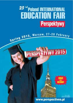 brochure () - Poland International Educational Fair