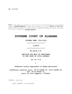Ex parte D.E. - Alabama Appellate Watch