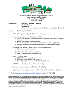 View Agenda - Northwest San Pedro Neighborhood Council