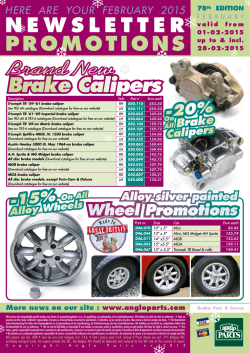 to download: February 2015 Newsletter Promotions PDF