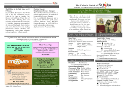 Bulletin 31 Jan 2015 - Blessed John the 23rd