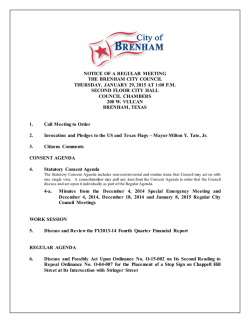 Agenda - City of Brenham