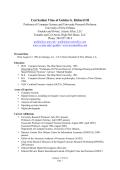 Curriculum Vitae of Golden G. Richard III