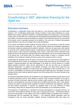 Crowdfunding in 360º: alternative financing for the digital era