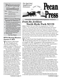 Pecan Press Feb 2015 - Hyde Park Neighborhood Association