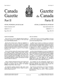 Canada Gazette, Part II
