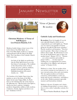 January newsletter 2015 - The Pharr Oratory of St. Philip Neri