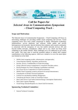 Cloud Computing Track