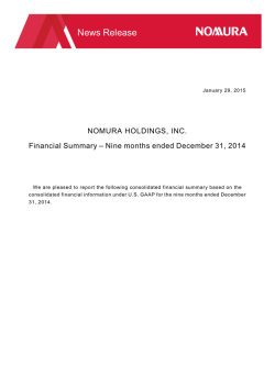 Nine months ended December 2014 (PDF 91KB)