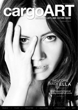 WELCOME BACK ELLA - cargoART Magazine