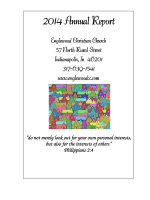 2014 Annual Report - Englewood Christian Church